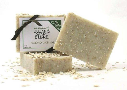 Natural Almond Oatmeal Soap Bars
