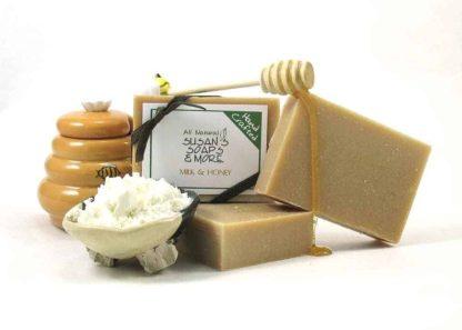 Natural Unscented Milk & Honey Soap Bars