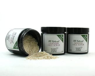 All-natural Face Scrub in Lavender and Almond