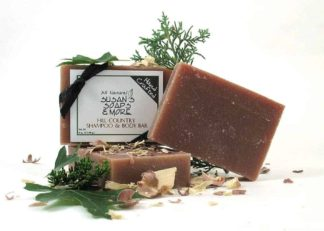 Natural solid shampoo bar - Hill Country