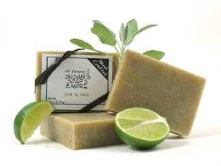 Natural Lime & Sage Soap Bars